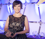 Candace Wohl accepting Night of Hope Award